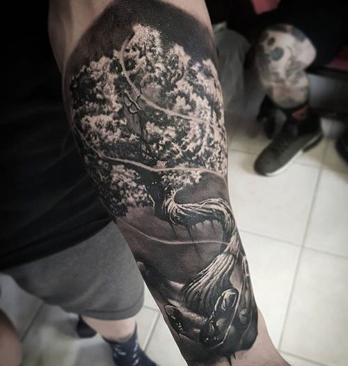 Outside Arm Tattoos For Guys