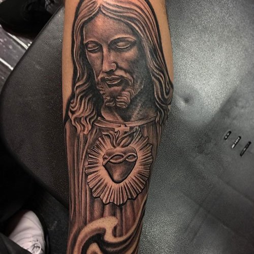 Religious Christian Jesus Arm Tattoos