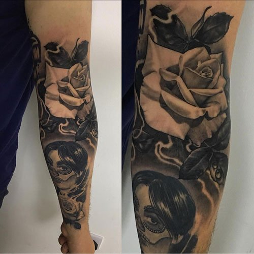 Sweet Back of Arm Tattoo Designs