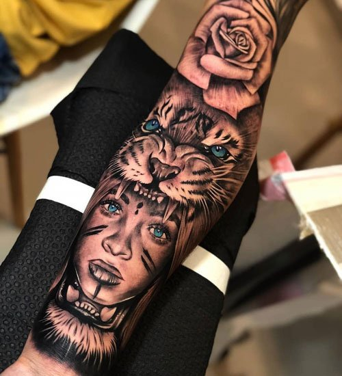 Unique Half Sleeve Arm Tattoos