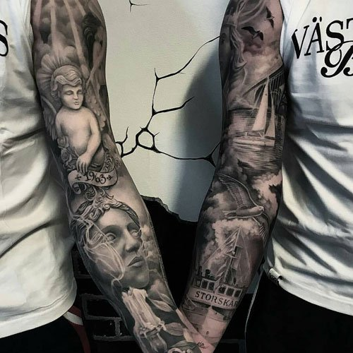 Upper Arm and Forearm Tattoo Designs