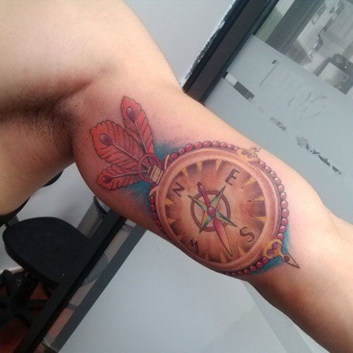 Awesome Inner Arm Bicep Tattoo Designs