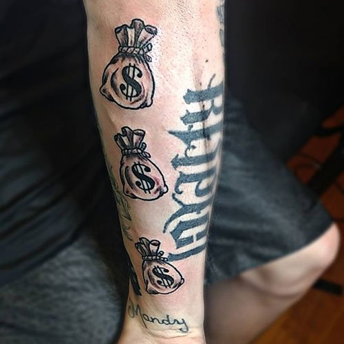 Awesome Money Bag Tattoo Designs