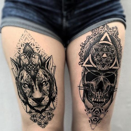 Awesome Thigh Tattoo Ideas For Women