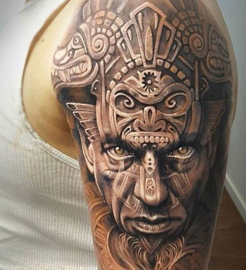 Aztec Sleeve Tattoos