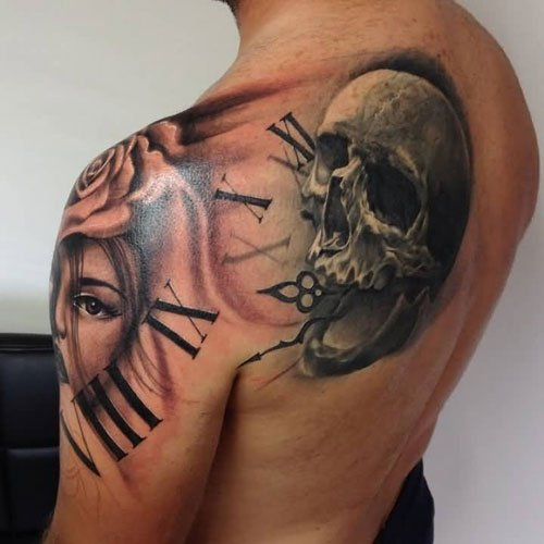 Back Shoulder Tattoo Designs For Men