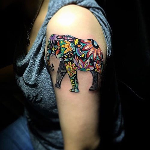 Badass Creative Flower Tattoos