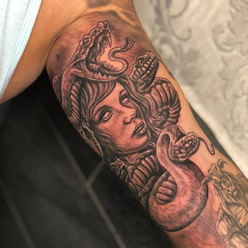 Badass Inner Arm Tattoo Designs For Men