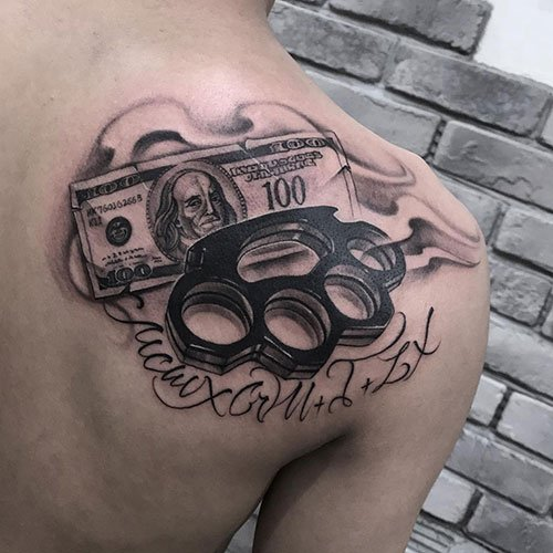 Badass Money Power Respect Tattoo