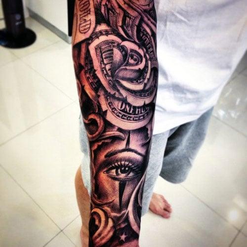 Badass Money Sleeve Tattoo