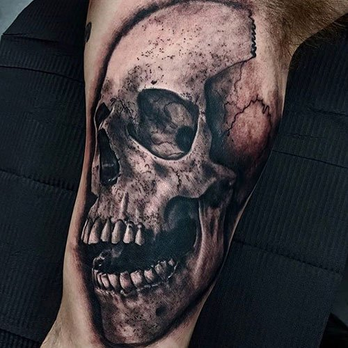 Badass Skull Bicep Tattoo Ideas