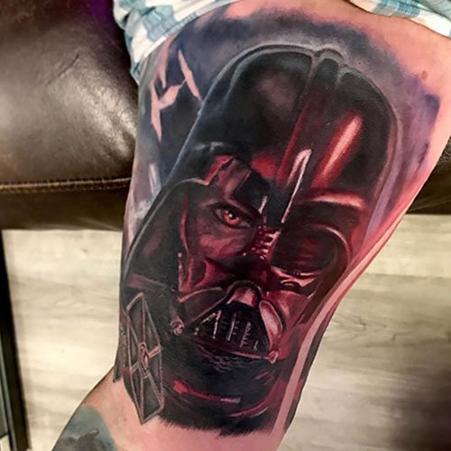 Badass Star Wars Bicep Tattoo Ideas
