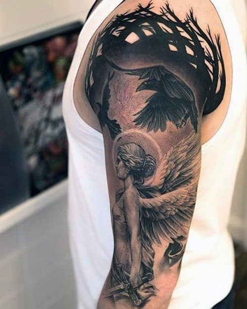101 Best Angel Tattoos For Men Cool Designs Ideas 2020 Guide