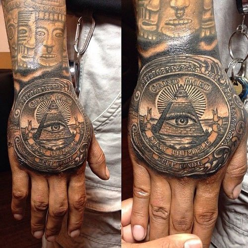 Best Money Hand Tattoos
