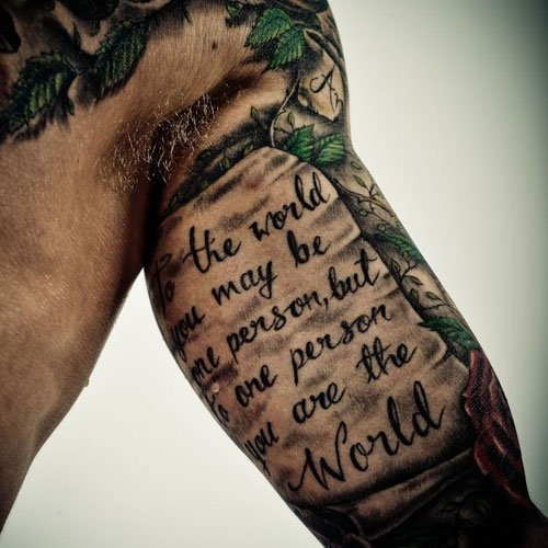 Best Quote Tattoo on Inner Bicep