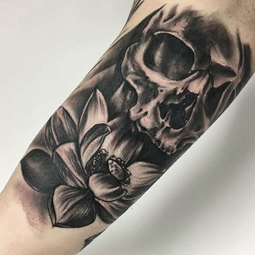Black Bicep Tattoos For Guys