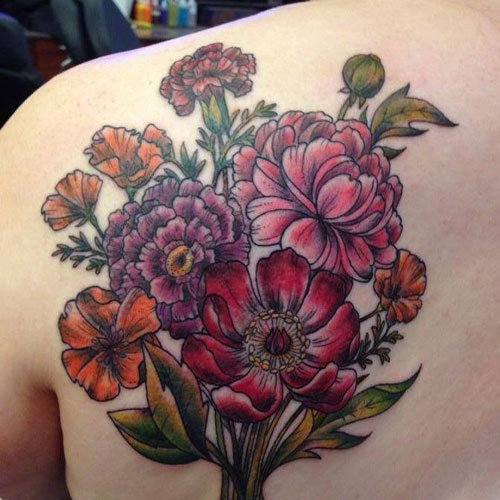 2b067325f5a79 125 Best Flower Tattoos - Designs, Ideas and Meanings (2019 Guide)