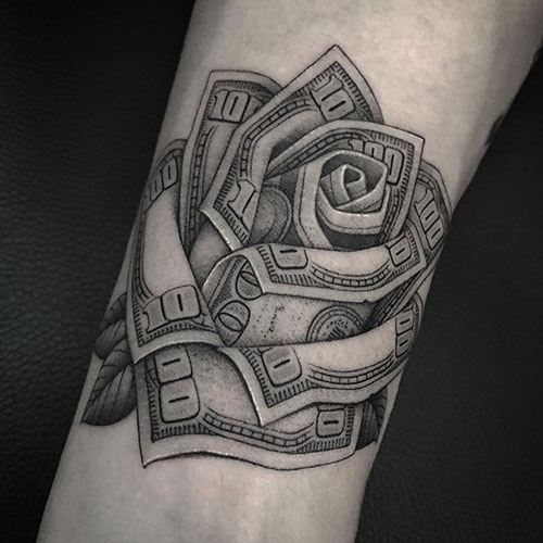 Cash Rose Tattoo