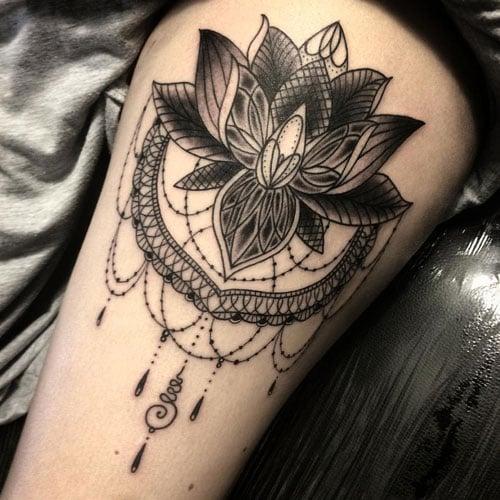 Classic Lotus Flower Tattoo Designs