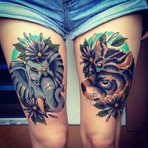 Classy Thigh Tattoos