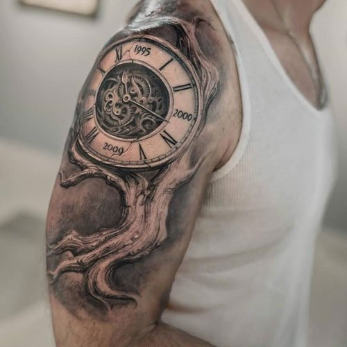 Clock Tattoo Sleeve