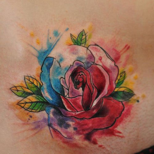Colorful Flower Tattoos