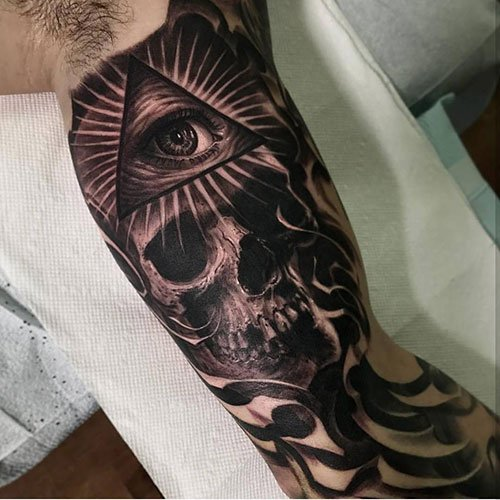 Cool Bicep Sleeve Tattoo