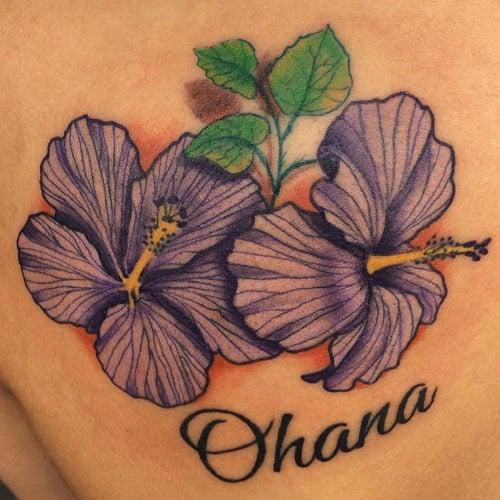 Cool Hibiscus Flower Tattoos