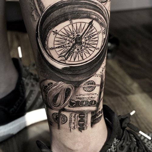 Cool Money Leg Tattoos