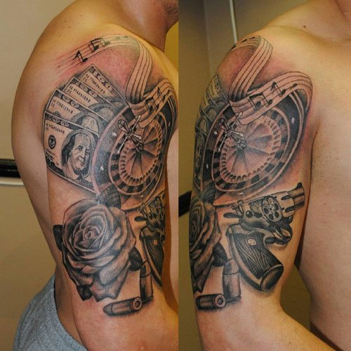 Cool Money Tattoo Ideas For Men