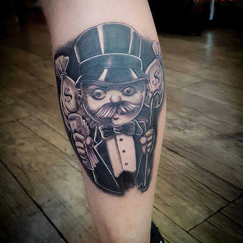 Cool Monopoly Tattoo