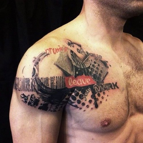 Cool Shoulder Word Tattoos
