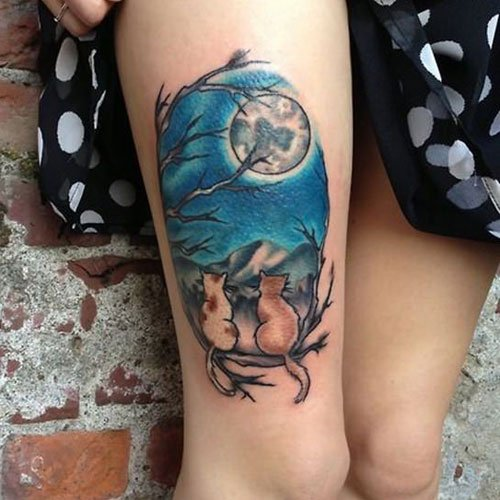 Cool Upper Thigh Tattoo Ideas For Women