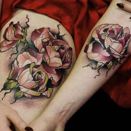 Creative Flower Tattoos