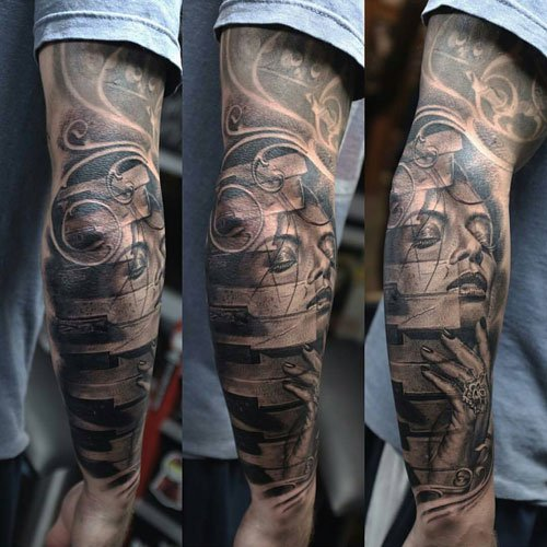 Creative Half Sleeve Tattoos Arm