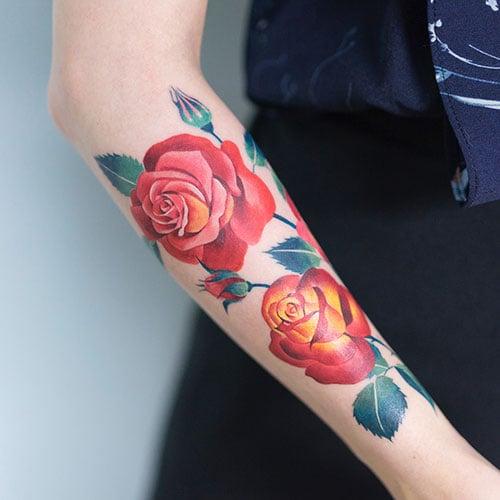 Cute Rose Flower Tattoos