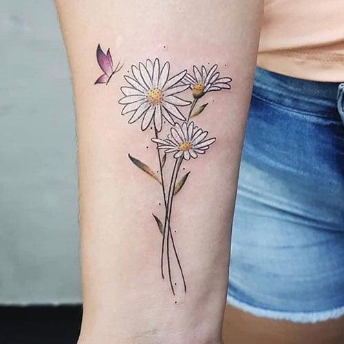 Cute White Flower Tattoos