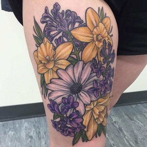 Daffodil Flower Tattoo