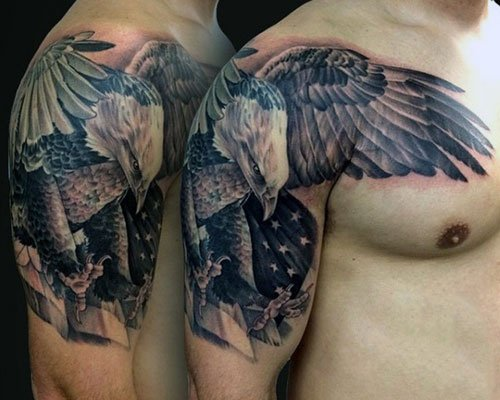 Eagle Half Sleeve Tattoo Designs