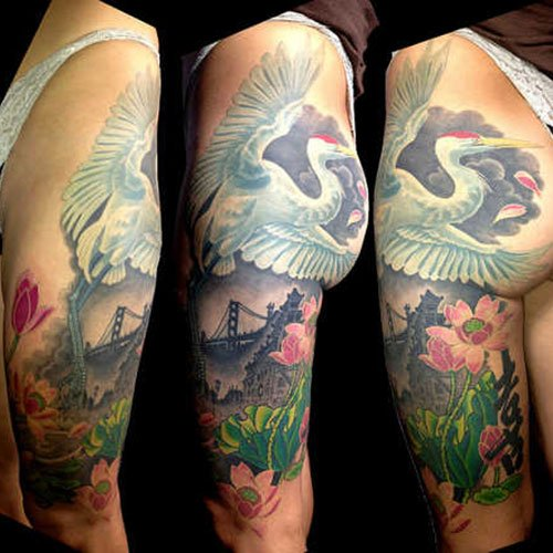 Feminine Thigh Tattoos