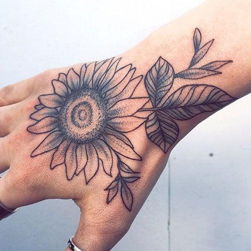 Flower Hand Tattoos