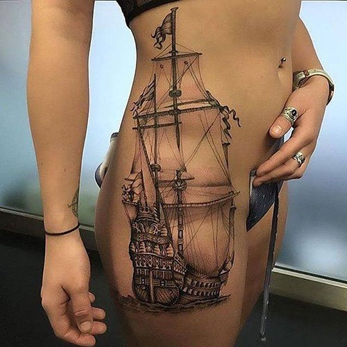 High Thigh Tattoos For Women