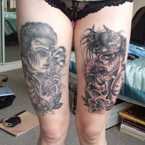 Hot Thigh Tattoo Ideas