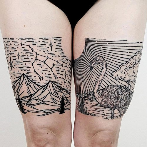 Inner Thigh Tattoo Ideas For Women