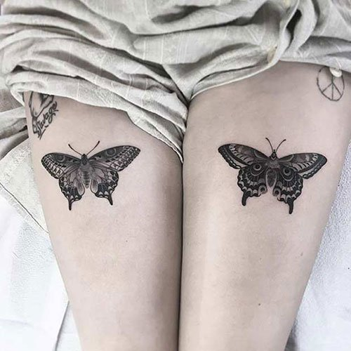 Matching Thigh Tattoos