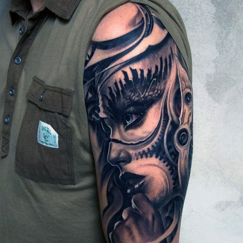 Half Sleeve Dragon Armor Tattoo : 60 wonderful armor tattoos from dragon armor tattoo.