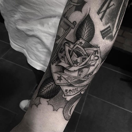 Money Flower Tattoo