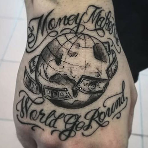 Money Makes The World Go Round Tattoo
