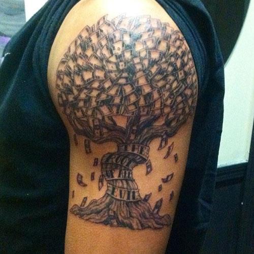 Money Tree Tattoo