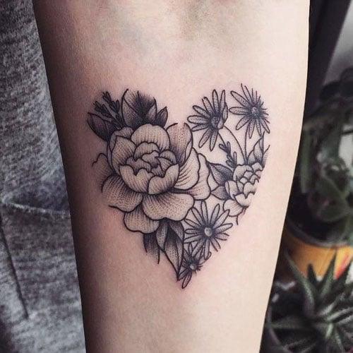 Outline Flower Tattoos